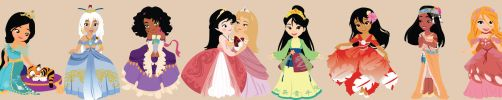 Disney Young Princess ~ Panel by miss-lollyx-33