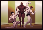 One Punch-Man Fanart: S class bodybuilding contest by Amongthem