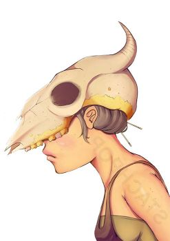 Skull Girl by Stachpop