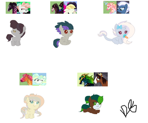 babies for FeralFlowerChild by lcgyzma1