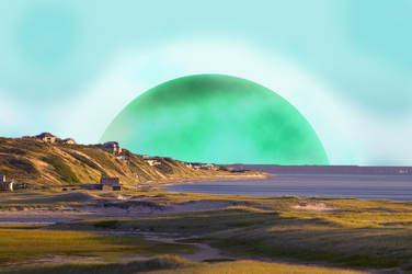 Planet-View Landscape Scene by bl00db4th7