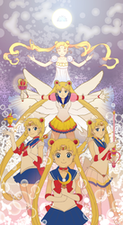 Sailor Moons by skimlines