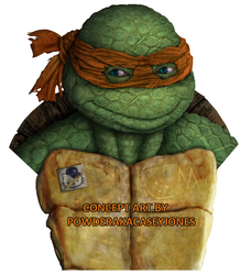 TMNT Michelangelo Live Action Concept Art by PowderAkaCaseyJones