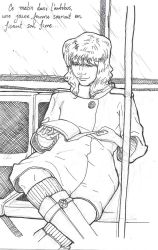 Woman reading in the bus by Eternal-turns-magic