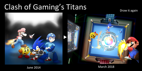Clash of Gaming's Titans - Draw it Again by PotterzillaSeries