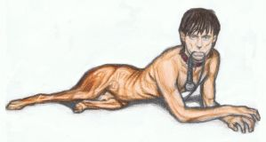 Iggy Pop as a dog by gagambo