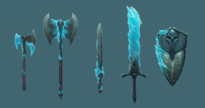 Frozen Maze - Weapon Set by MorkarDFC
