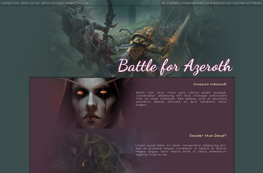 World of Warcraft: Battle for Azeroth Forum Theme by Draebox