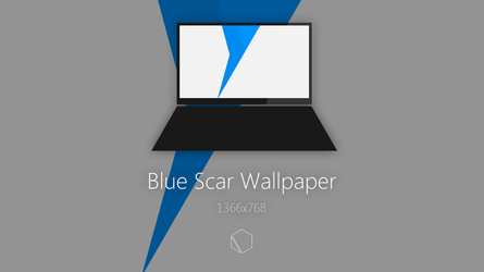 Blue Scar Wallpaper by TheButterCat