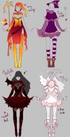 Outfits adopts 2 - Paypal Auction CLOSED by rika-dono