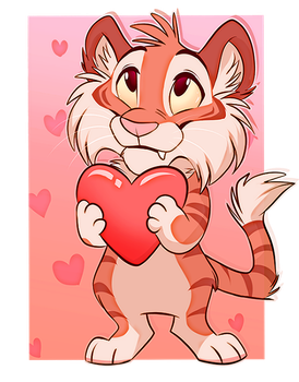 Little kitty loves you by SilverDeni