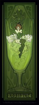 Absinthe Poster by MyBeautifulMonsters