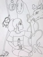 17th Birthday Scribble Challenge (Spirited away) by AmyNovacaine