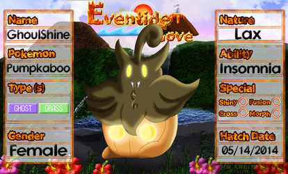 PKMNation Ref - GhoulShine the Pumpkaboo by EventideCove