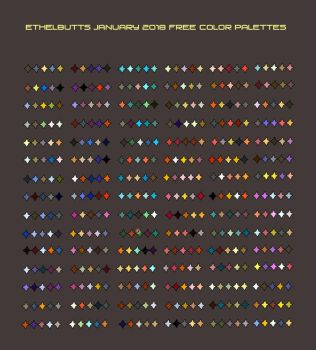 Free January 2018 Color Palettes by Ethelbutt