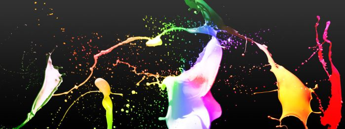Colorful Paint - Dual Screen by apocalypsemedia