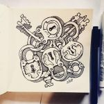 Instaart - Locks and keys by Candra