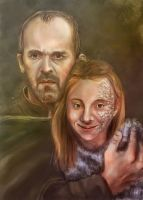 Stannis and Shireen by vincha