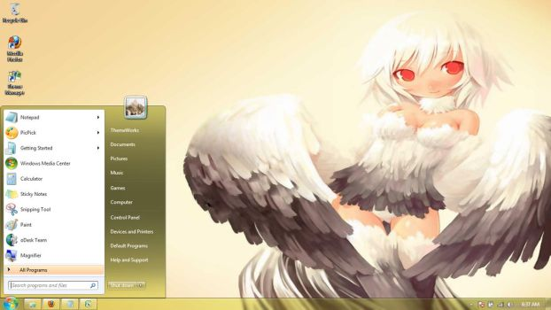 Anime-girls-33  Windows 7 theme by windowsthemes