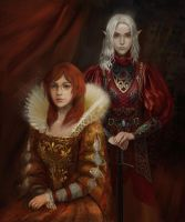 Cecelia and  Tysennia by BellaBergolts