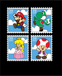 Mario Stamps by lbunny