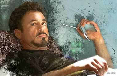 Robert Downey Jr iron man by cylevie