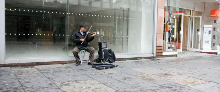 Glasgow Busker by BusterBrownBB