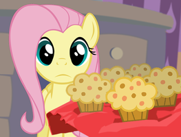 Fluttershy Can't Muffins by Voodoo-Tiki