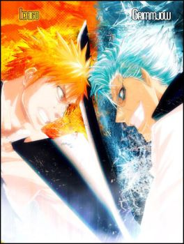Grimmjow Vs. Ichigo by Pyrion42