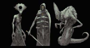 Demon sketches by NickDeSpain