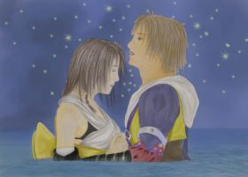 Tidus And Yuna by lolavincent
