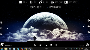 Planet Earth 3 Rogers1967 Rainmeter by Rogers1967
