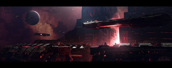 Hades' Star - Cerberus Station by GabrielBStiernstrom