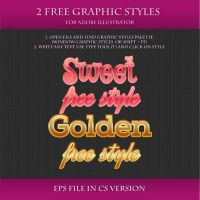FREE Graphic Styles for Adobe Illustrator #3 by Love-Kay