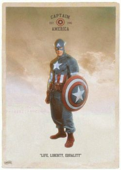 Captain America pinup by simonpimpernel