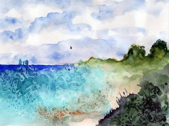 World Watercolor Month #15 - On the Beach by Kizzy-i-Keinstein