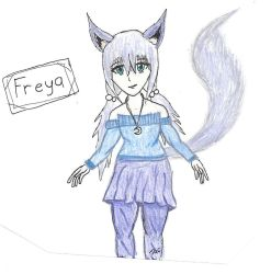 Freya gift art by searingdestiny