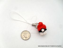 Pokeball Cupcake Charm by AnyaZoe