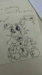 Springtrap sketch by Pheuxie