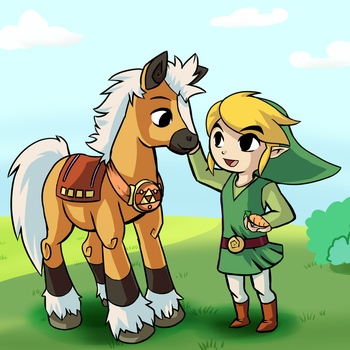 WW Epona Link by HylianGuardians