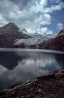 Gries Glacier At Gries Lake (2400 m) by Woscha