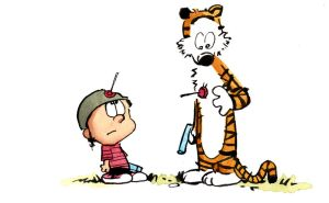 Calvin and Hobbes - Darts by zven
