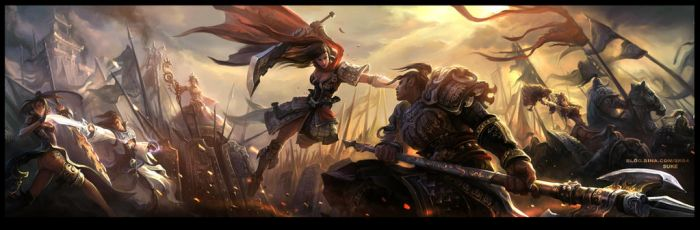 Miss.Hua fighting Mr.Zhao by su-ke