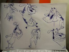 Cow and Chicken doodles by zebG