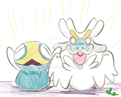 [Pokemon] Dunsparce and the Dragon (Drampa?)