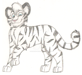 White Tiger Sketch by Charlie-Breen
