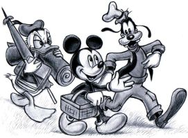 Mickey, Donald, Goofy by zdrer456