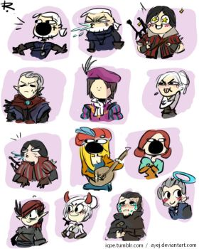 The Witcher 3, doodles 263 by Ayej