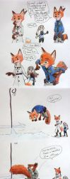Nick Wilde's Snow Dive by CCCanyon
