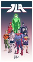 My Take on the JLA Groupshot by dio-03